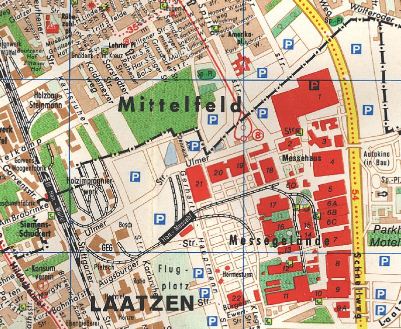 messe hannover karte Messebahnhof Hannover